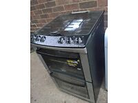 black silver gas cooker 55cm..Mint free delivery