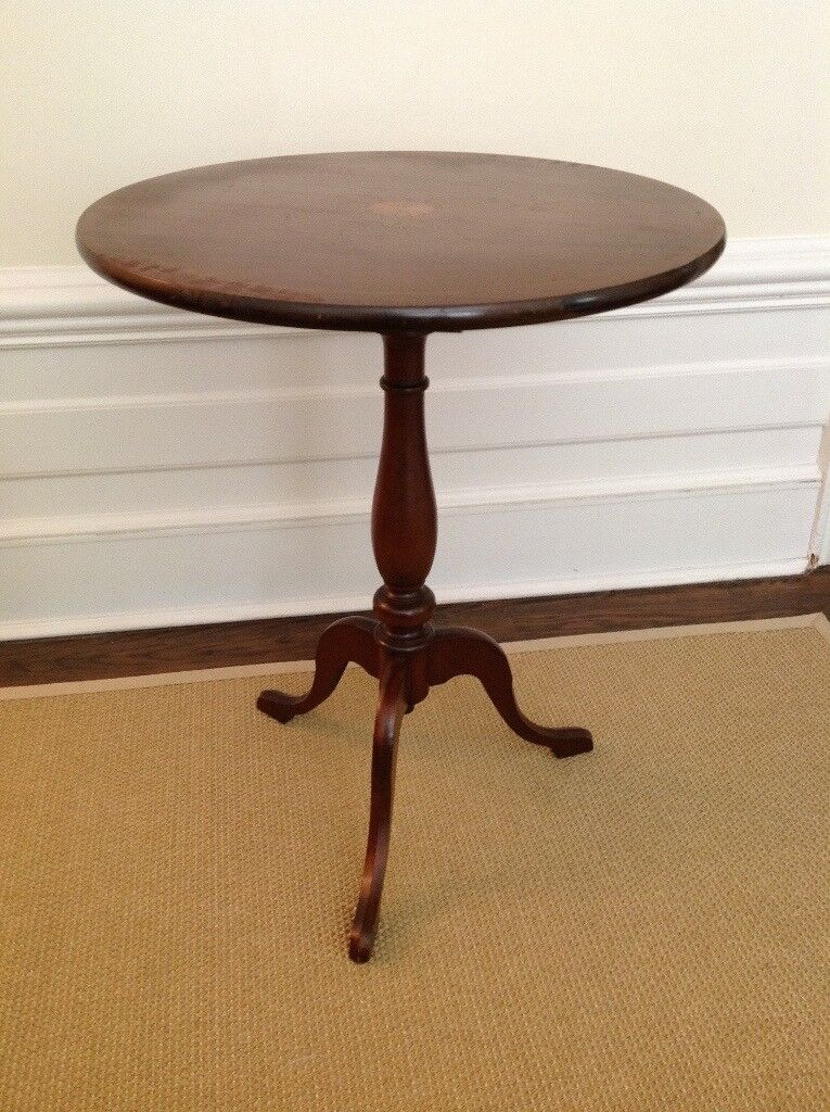 Beautiful round antique side table