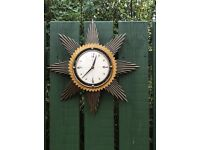 Retro Metamec starburst clock