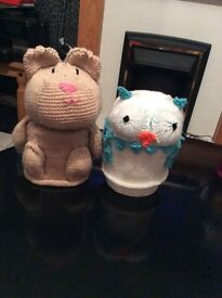 Hand made toilet roll covers