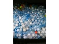 Grade B golf balls all varieties good condition no scuff marks just ink marked.£10 per 100