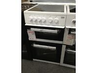 Beko 50cm white electric Cooker. Ceramic hob £220 new/graded 12 month Gtee