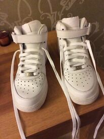 Ladies white Air Force 1 mid NIKE TRAINER size 5.5