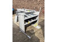 VW Caddy Maxi, British gas fitted racking in good condition