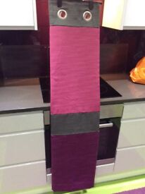 """Next pink/purple/grey lined eyelet curtains 135x137/53""""x54"""" as new"""