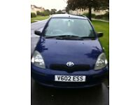 Toyota Yaris 5 door 1L vvti