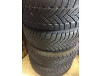 """BMW wheels and winter tyres runflats 16"""" 1 or 3 series"""