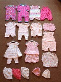BABY GIRLS CLOTHES BUNDLE (NEWBORN & 0-3 MONTHS)