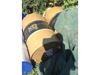 Empty 205 litre oil drums