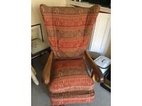 Large high wing back armchair