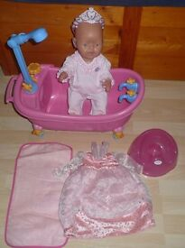 BABY BORN Doll with BABY BORN BATH and Accessories