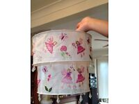 Children's fairy lampshade hand embroidered chandelier style