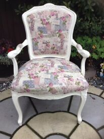 Beautiful newly upholstered bedroom/nursing chair