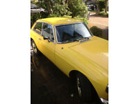 MGB GT 1979 Yellow with matching trim / Alloys Size 185 60 14