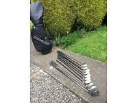 Golf clubs by mitsushiba with Dunlop bag