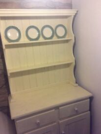 Vintage Painted Solid Pine Welsh Dresser Shabby Chic
