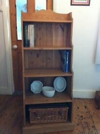 Solid Pine Waterfall Bookcase / Display Unit
