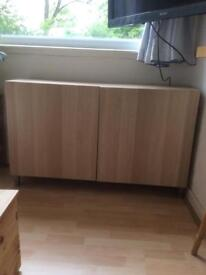 IKEA BESTA CUPBOARD SHELVES T.V, UNIT