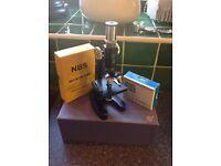 Boxed child's microscope