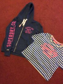Superdry hoodie size M and Superdry Tshirt size S