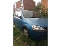 Vauxhall corsa non runner can be fixed,blue