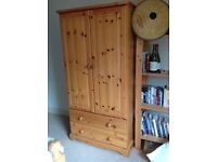 Solid Pine Childrens' wardrobe in Very Good Condition