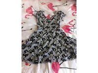 H&M grey panda dress size 6