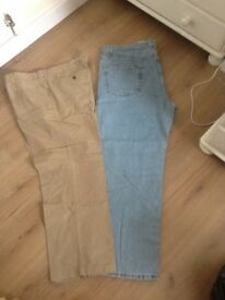 Lots of mens shorts and trousers 42 inch waist