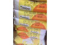For sale 10 bags of Weber Weberpral M render