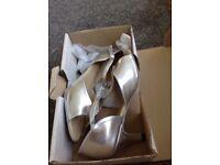 Silver dance shoes