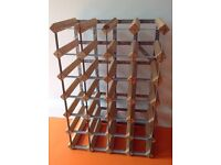 Large solid wooden wine rack