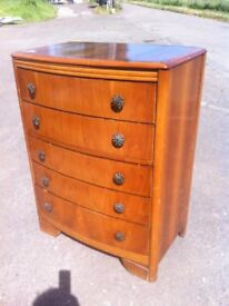 Vintage Lebus five drawer chest