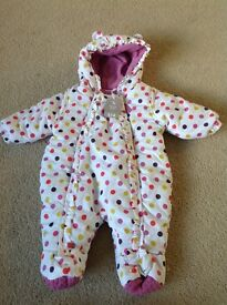 Spotty snowsuit
