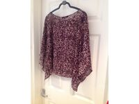 Pretty chiffon top from Next, size 12. Never worn!