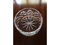 Cut crystal glass bowl