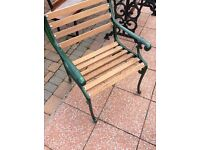 Garden chairs, solid mahogany, various to choose from