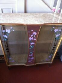 Vintage Display Cabinet Display Glass Table / Can Deliver