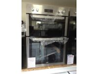 Beko built in intergrated double oven. 90cm stainlss steel. £260. New/graded 12 month Gtee