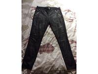 Leggings, black, size L