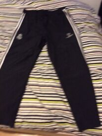 New black and silver Real Madrid pans, size Xlarge ,75% off