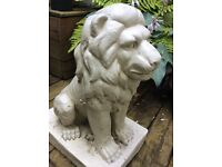 Great aged stone look lion