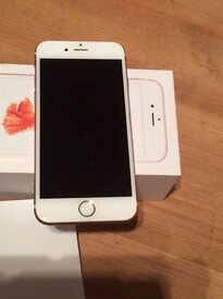 Apple iPhone 6s 64gb white / rose gold pink, excellent condition, unlocked, boxed