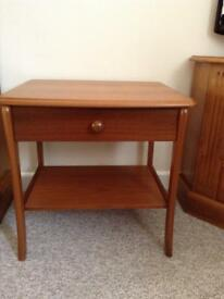 Side table with drawer & lower shelve