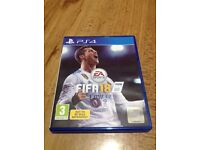 Brand new sealed FIFA 18 for PlayStation 4 ,mint condition