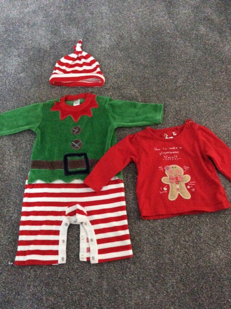 Baby Elf Christmas Outfit from Next - 3-6 months