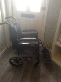 Nearly new wheelchair for sale