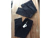 Two pairs not worn Artigiano black jeans size 18 & 20