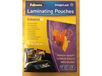 Fellowes ImageLast A3 80 Micron Laminating Pouch Pack of 100 Pouches - New in Retail Packaging