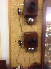 Bakelite and wood early1900s intercom