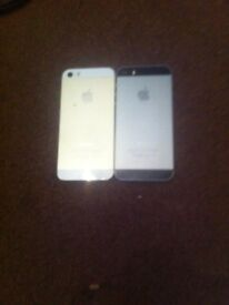 Joblot of 2 Apple iPhone 5 both Spairs or repairs